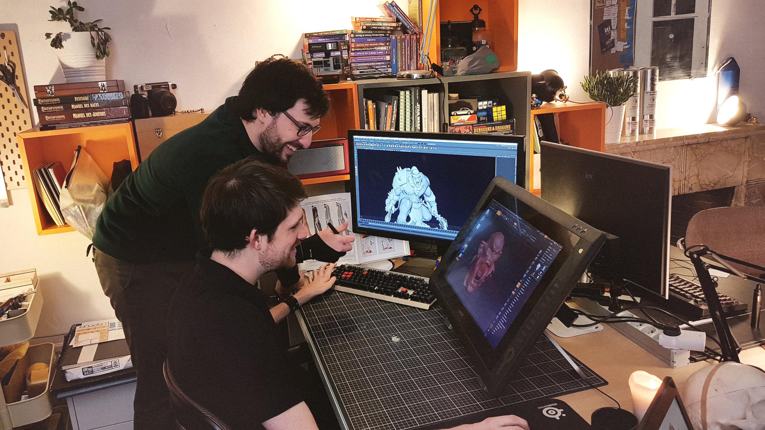 Nous sommes issus du jeu vidéo, du cinéma d'animation 3D et de l'entrepreneuriat. -