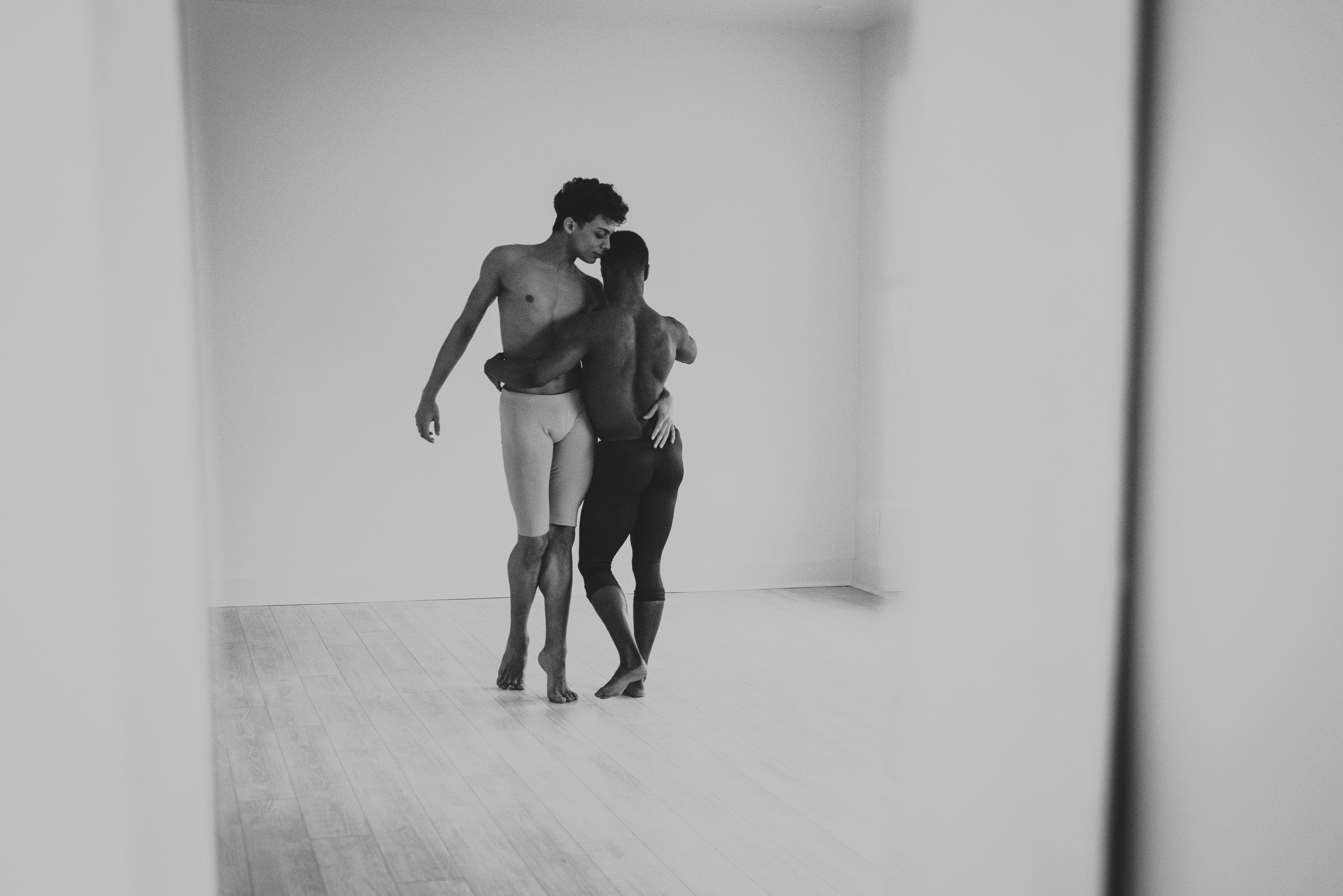 Oklahoma City Couples Boudoir two male ballet dancers