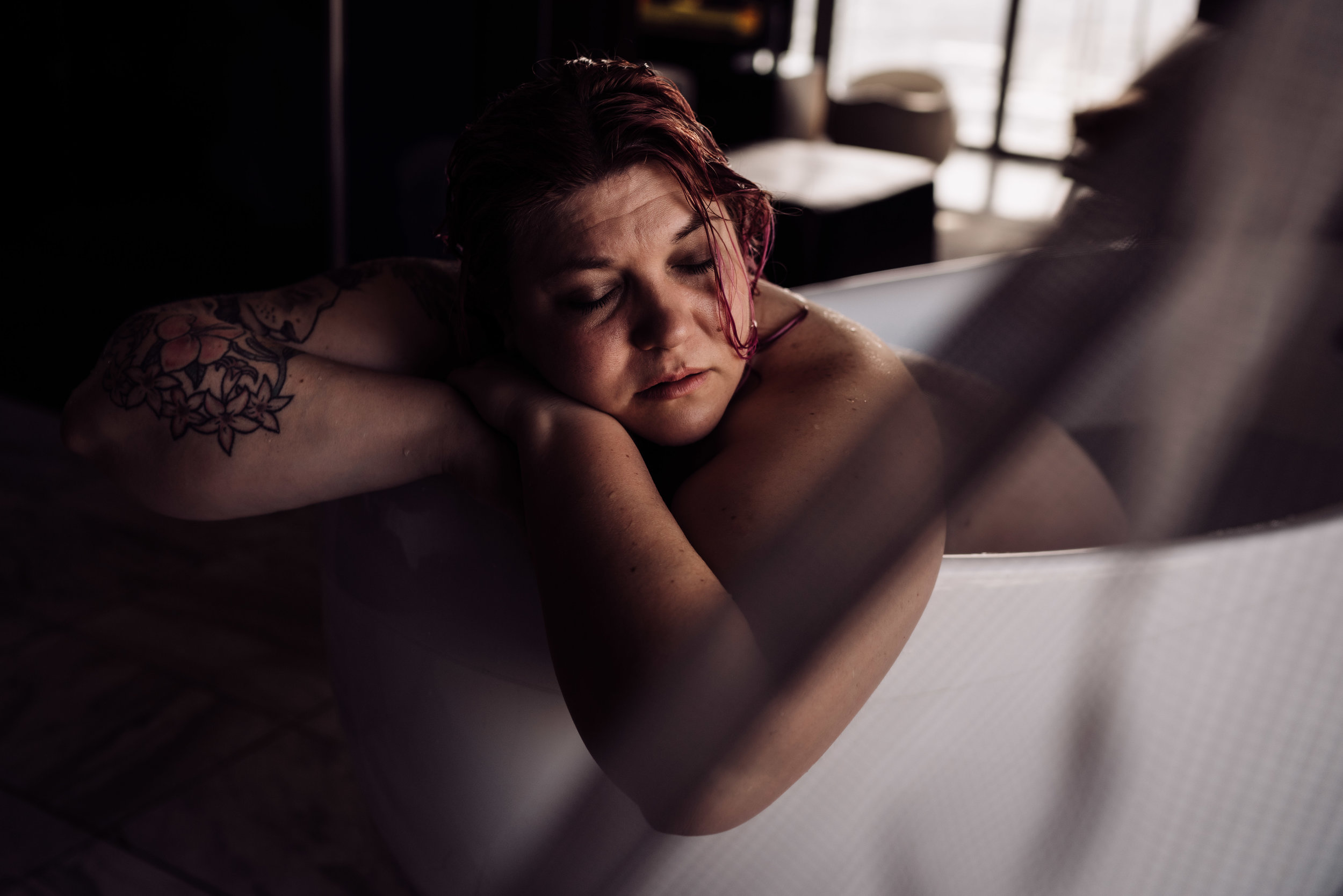Las Vegas Boudoir Session woman laying in tub