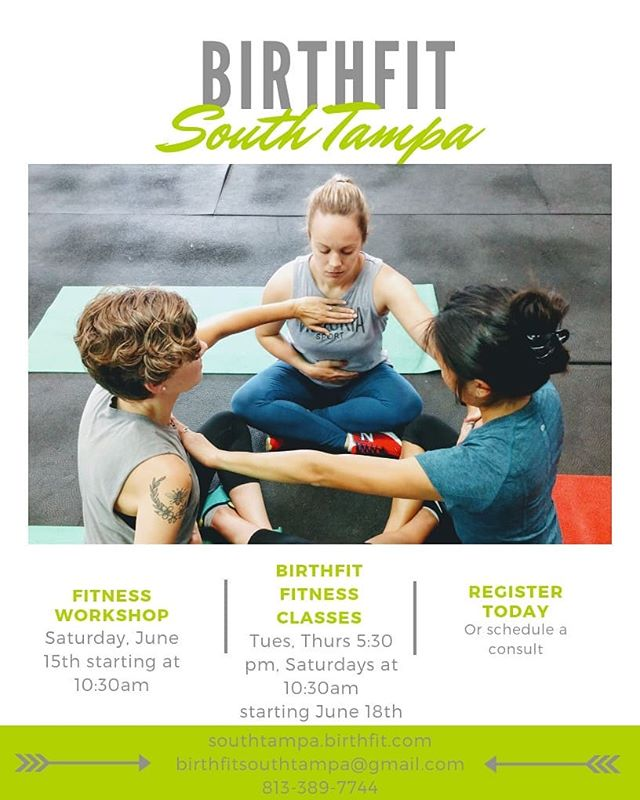 We have a couple of things happening next week! Saturday there's a #BIRTHFIT workshop that is all about the fitness pillar. We are digging deep into the dos and don'ts regarding fitness through pregnancy and into the postpartum phase of motherhood. On June 18th we are kicking off our Fitness class! This class is for both pregnant and postpartum mamas that want to move with purpose and intention together in a group setting. Attend the workshop and get 50% off your first month!