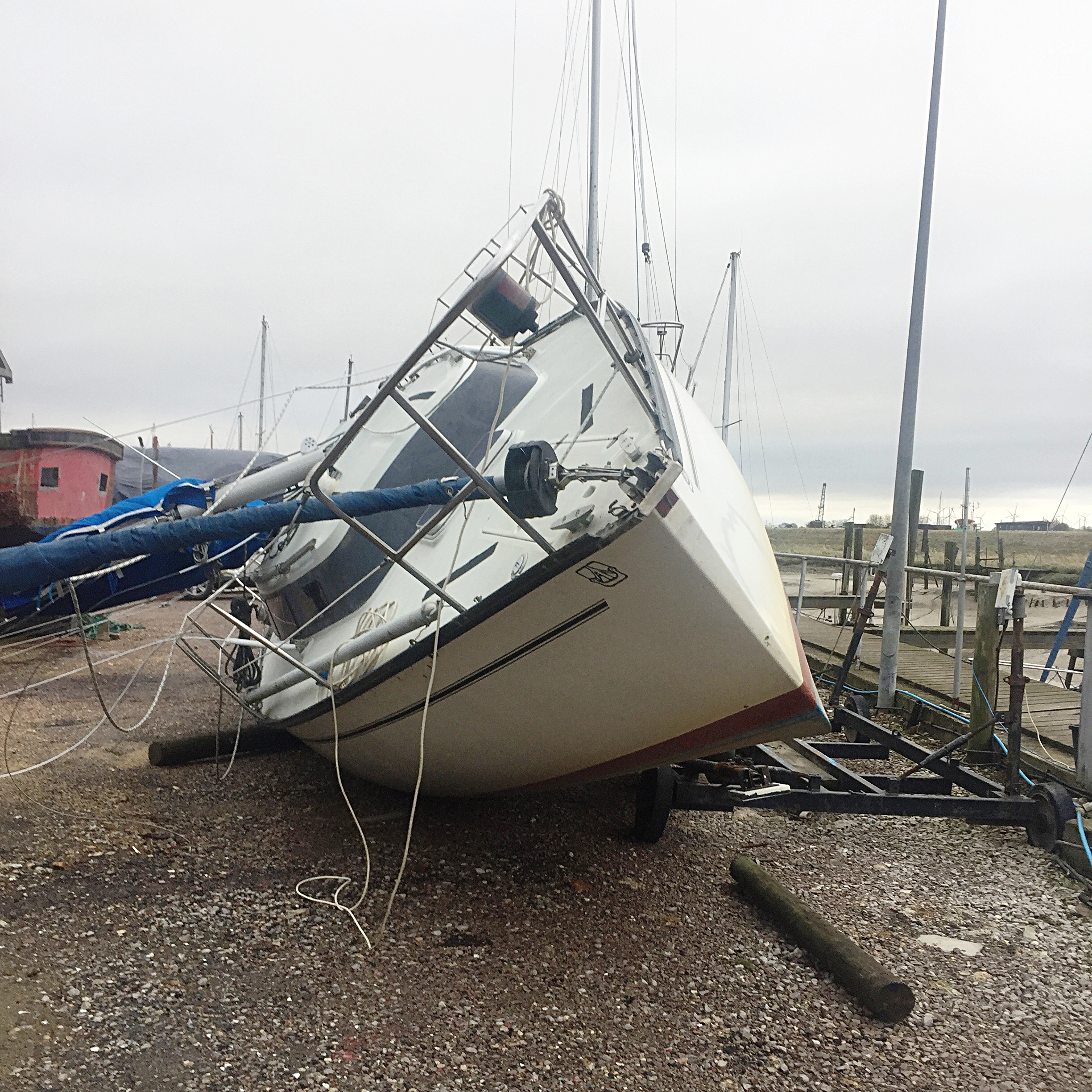 Even severely storm damaged vessels can be recovered and repaired.