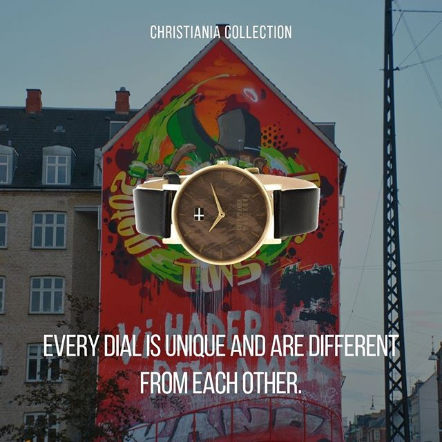 Our Christiania watches are designed to be unique.  This can be seen by the unique dial on every watch, which is different from each other! ⭐⌚ . . . #copenhagenwatches #watch #copenhagen #exclusive #danish #design #denmark #time #casual #gold #brown #root #art #leather #christiania #classic #watches #watchesofinstagram #fashion #christiania