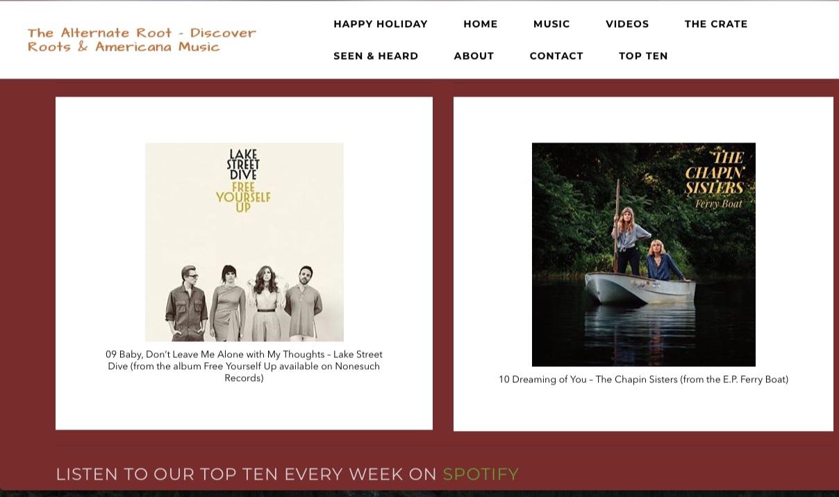 The Alternate Route: Alt Root Top Ten Songs of the Week -