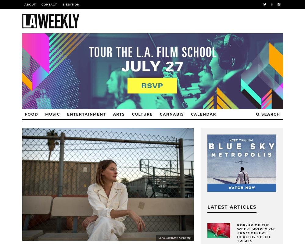 LA Weekly - Music Pick: July 2019 -