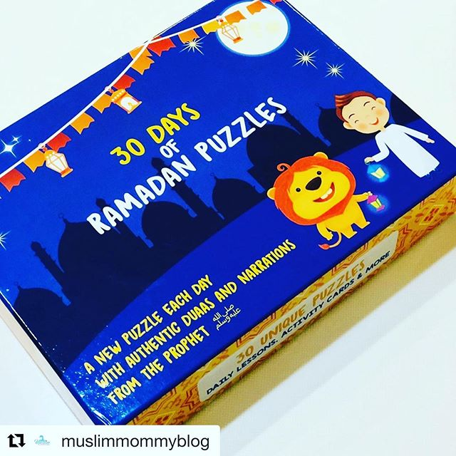#Repost @muslimmommyblog with @get_repost ・・・ If you want an activity that includes coloring, puzzle making, and counting down until Eid, then the @yallakids Ramadan puzzle is for you!⠀ ⠀ These boxes contain 30 envelopes, each with a colorable drawing and the day of Ramadan on front of it. Inside, there is a moral and a small puzzle that corresponds with that moral. The puzzles are well-made and contain a teaching about Ramadan for the kids to learn. ⠀ ⠀ My children really enjoy using these puzzles every day, and I truly feel that the morals are useful for teaching them. It gives us an opportunity to discuss important religious concepts, like The importance of reading Quran, which was day 4 in the calendar.⠀ ⠀ I would definitely recommend this puzzle for kids ages 4 and up. I plan on saving mine and pulling it out every year for the kids to do!⠀ ⠀ Get yours from @yallakids