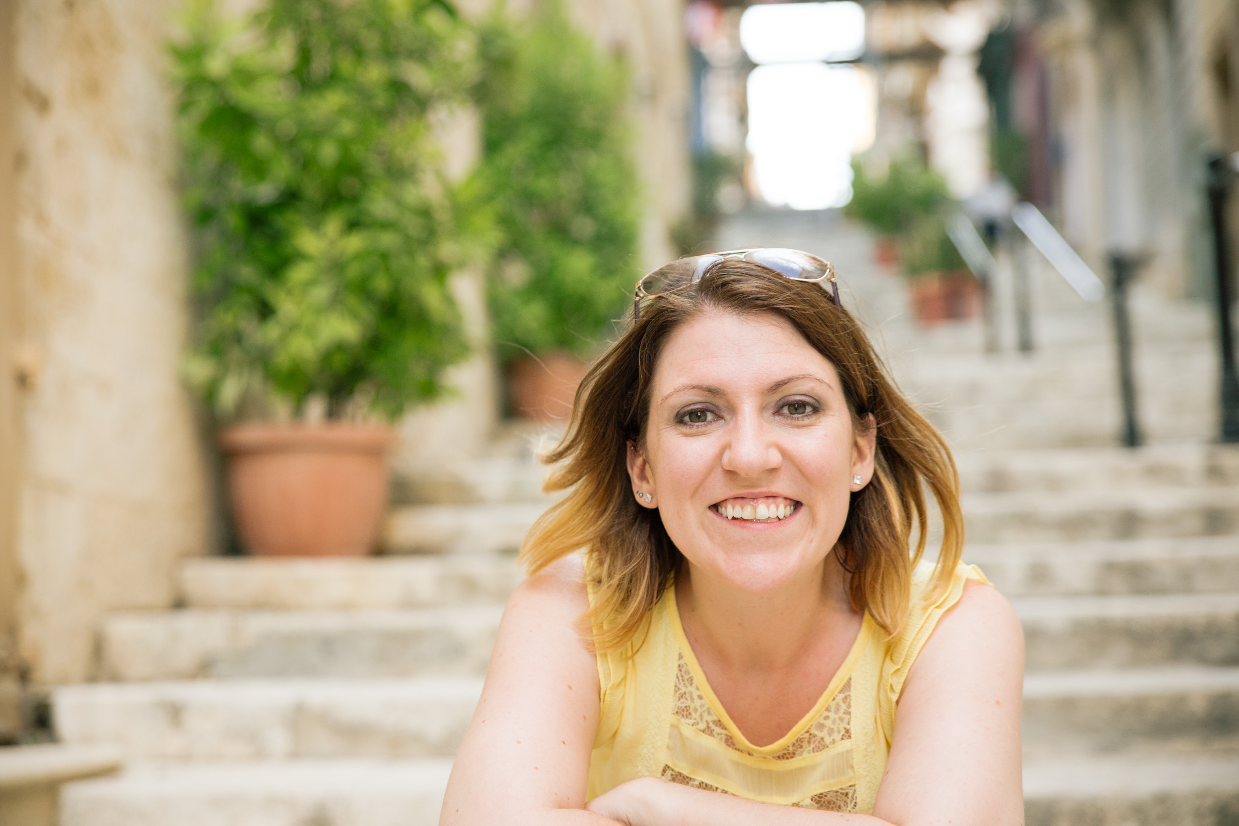 Mrs MAD,  Caroline Alexander-Drake  in Valletta, Malta