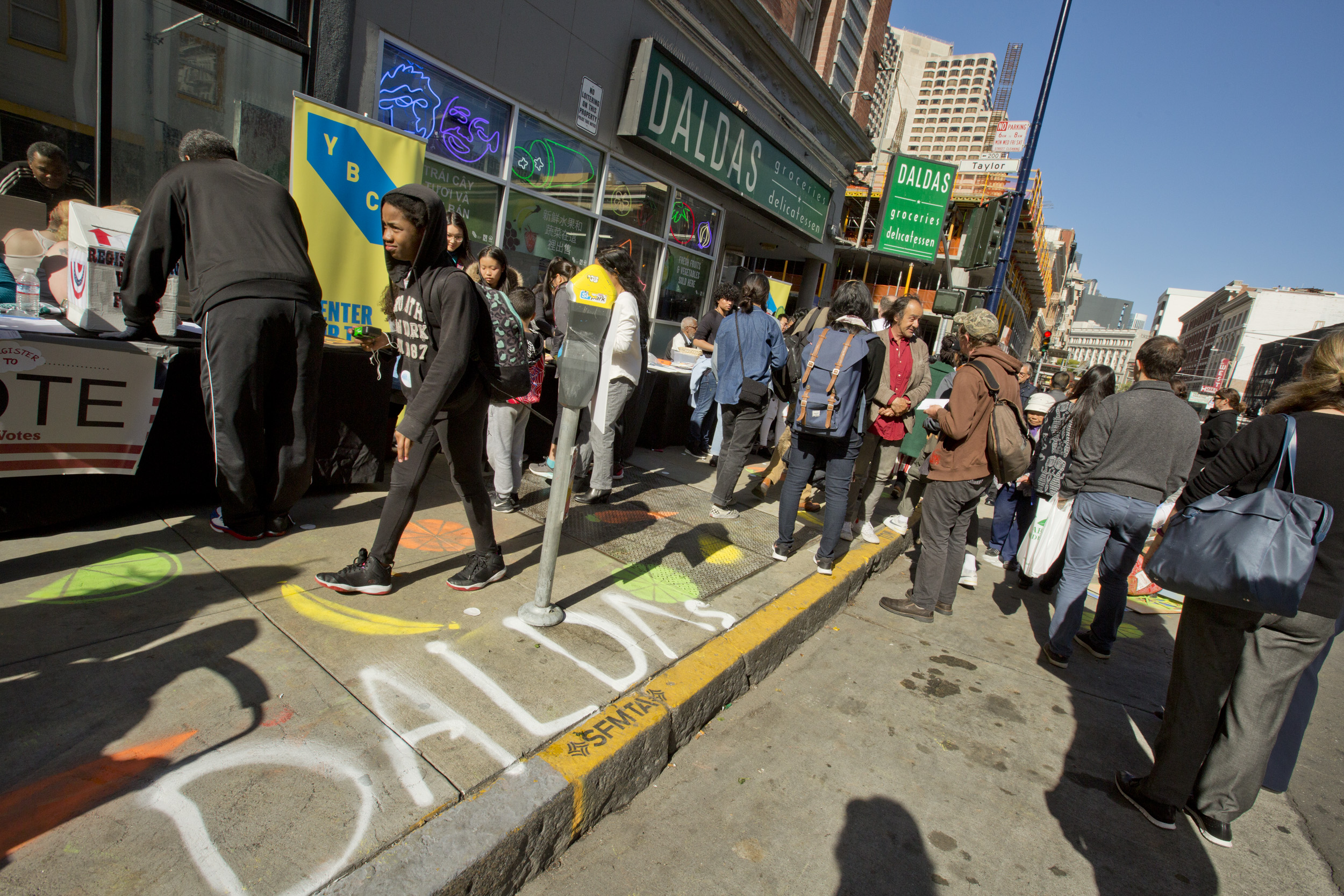 Artists are building healthy communities! - Youth Fellows and Tenderloin Healthy Corner Store Coalition. Photo Tommy Lau.