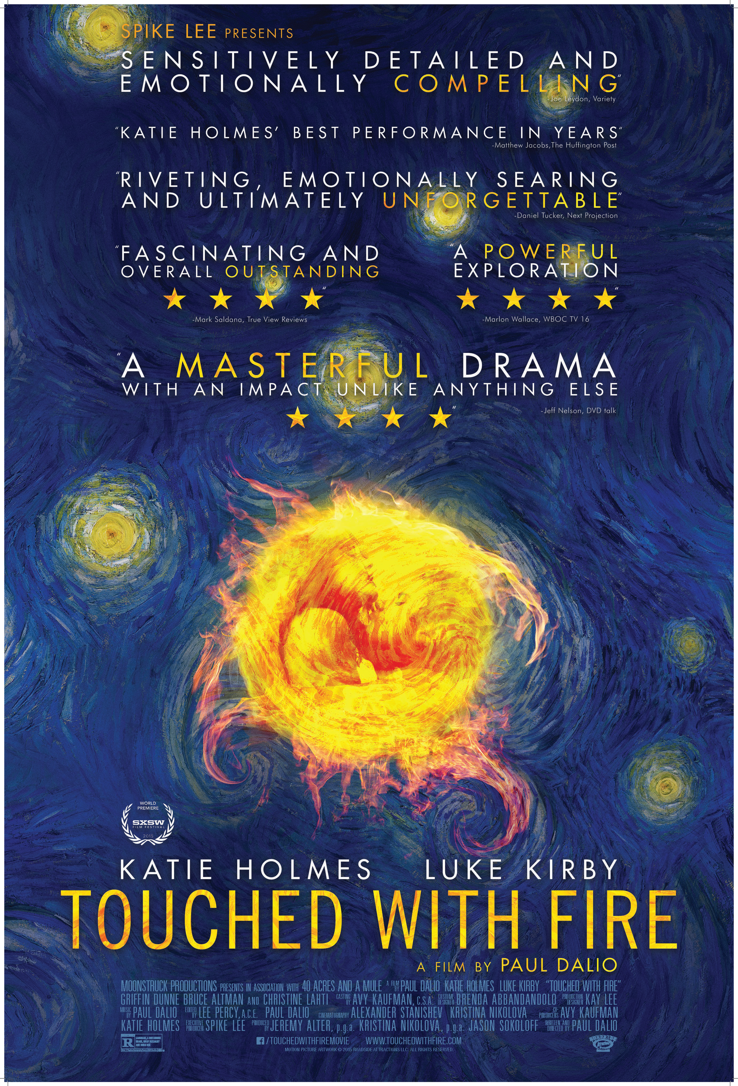 Touched with Fire  promotional poster. Courtesy of Moonstruck Productions.