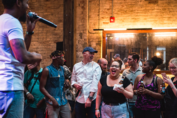 """Photo credit: recphilly.com // """"We look at our artists like lighthouses - they tell us where we are and where we should go."""" - Todd Carmichael, La Colombe Coffee"""