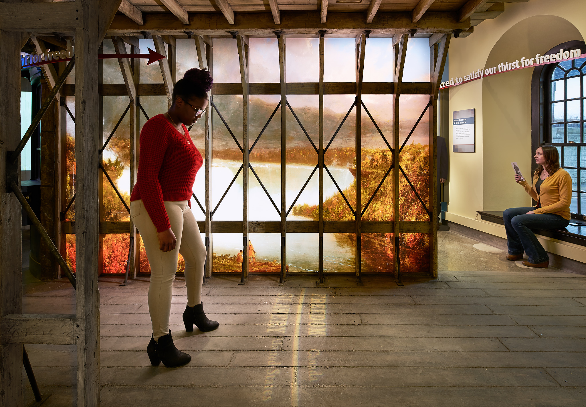 Suspension Bridge - Niagara Falls Underground Railroad Heritage Center ©Kim Smith
