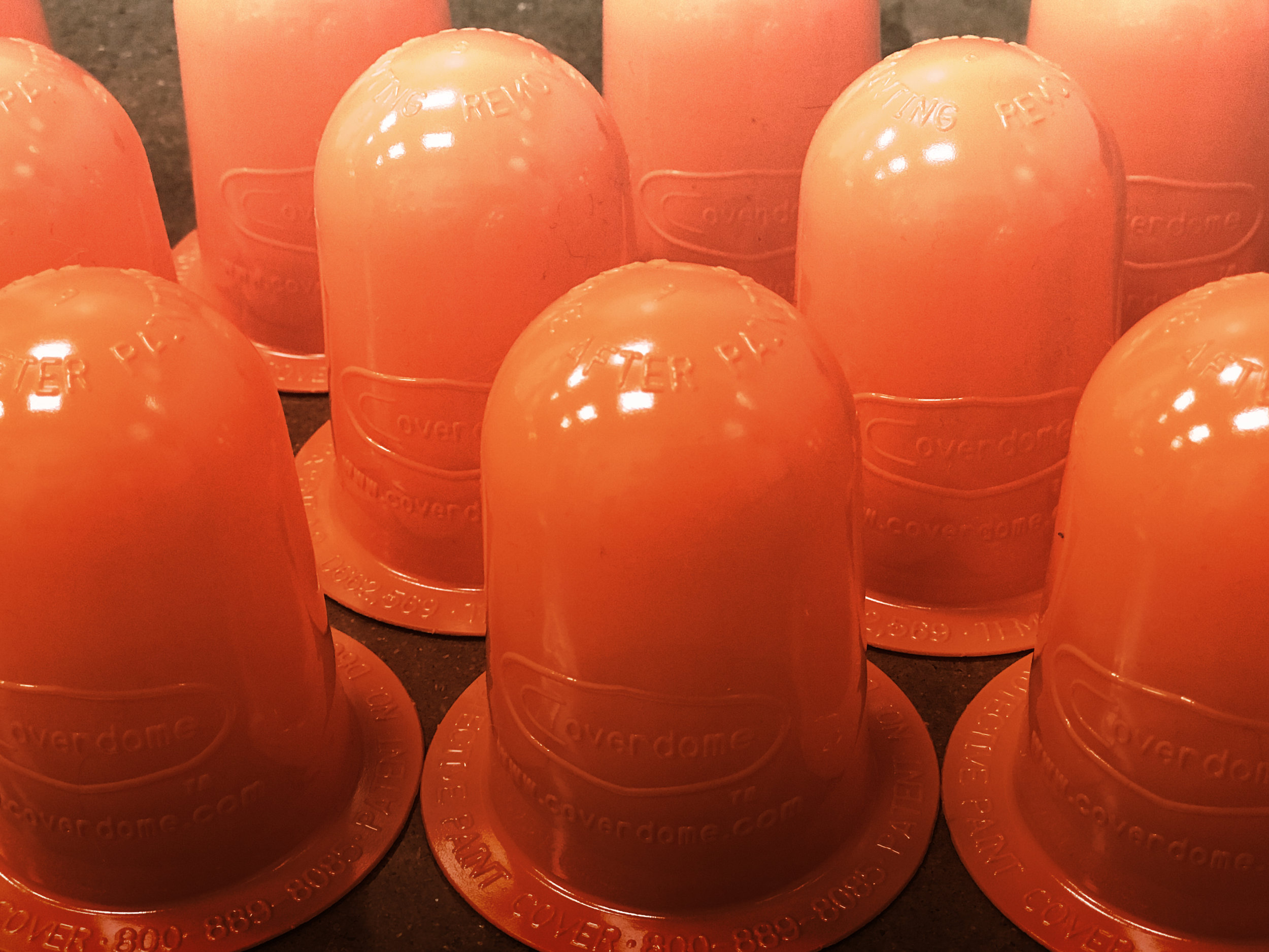 Happy Tree Orange Fire Sprinkler Head Protective Paint Cover Cap with a Magnet for Repeat Uses Multi Purpose Paint Shield 10 Pack