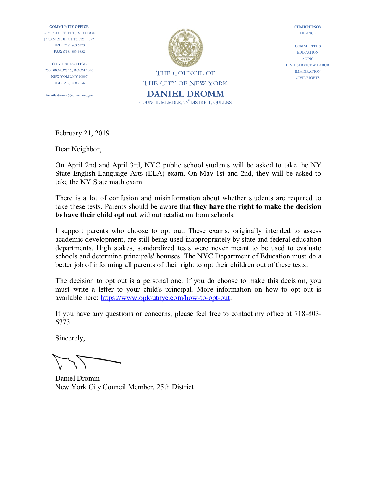 CM Dromm-Opt Out Letter ENGLISH 2019.png