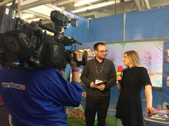 James Murden, CVO being interviewed at London Toy Fair last week