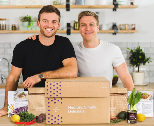 (Pictured is Giles Humphries and Myles Hopper, co-founders of Mindful Chef)