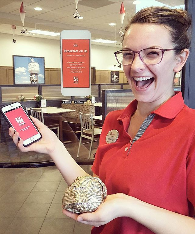 Who doesn't love free breakfast? 😀 Make sure you download our Chick-fil-A One app by September 30th to receive your free breakfast sandwich!
