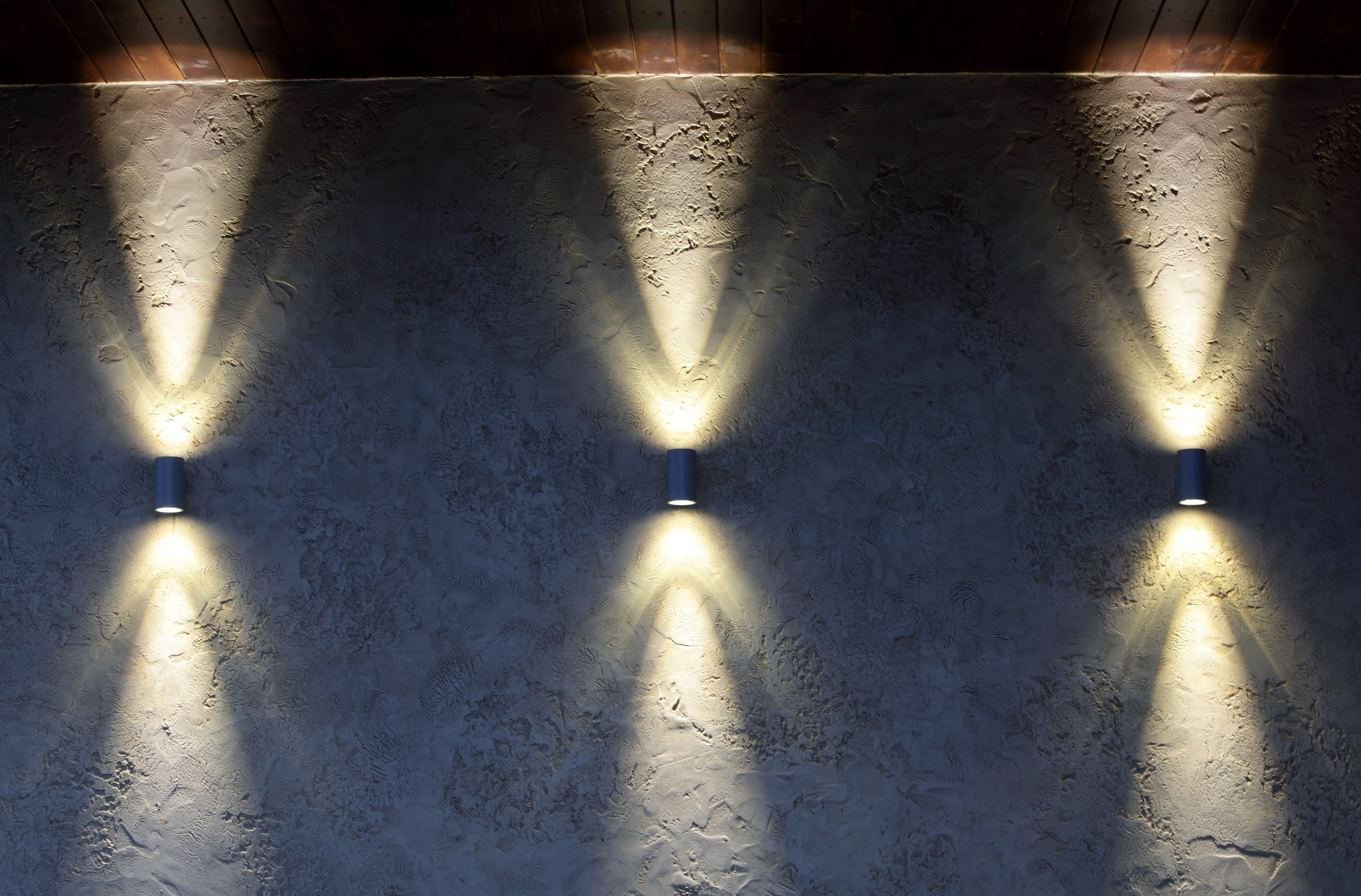 Wall Washers - Wall washers help outline the overall structure of a home and keep the house well lit to deter intruders.