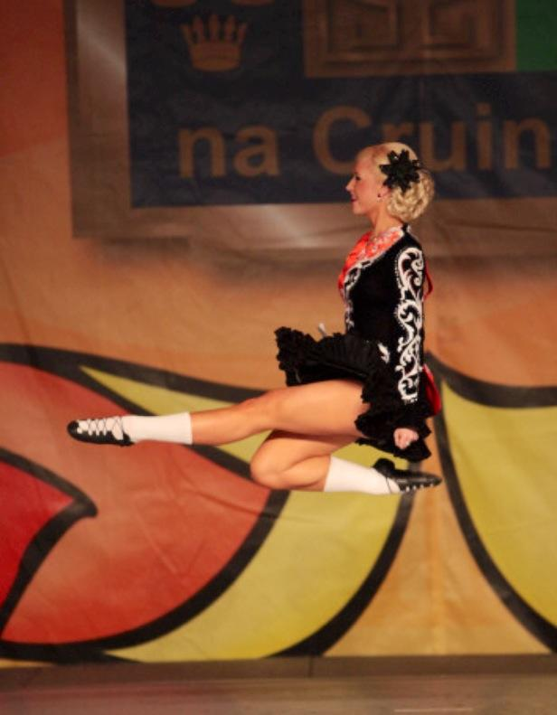 Sara competing in the World Irish Dancing Championships 2013, Boston