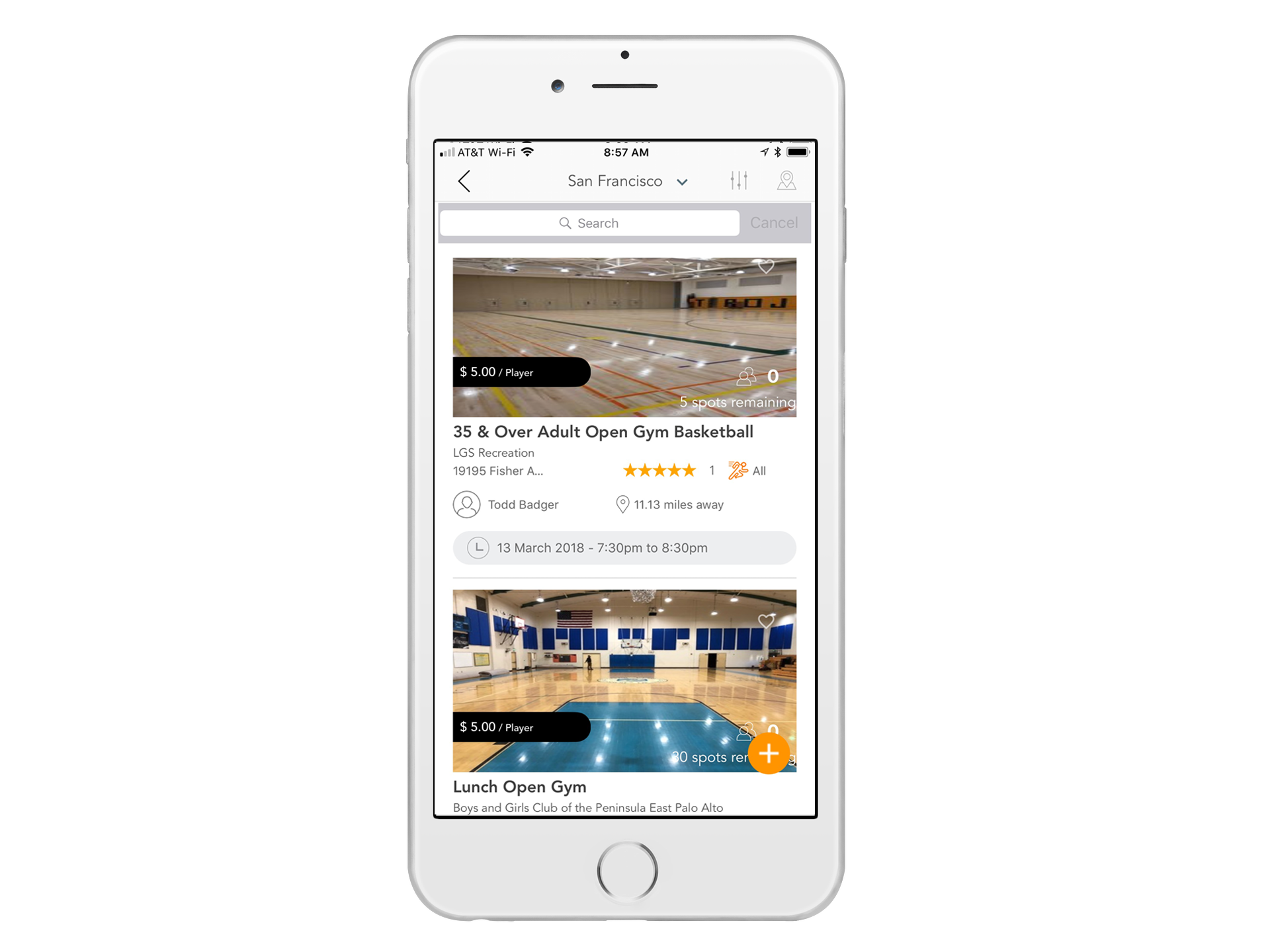 Discover local sports activities - Whether you're looking for open gyms, drop-in programs, or pickup games, you can easily find and join activities going on around you any day of the week or choose from activities near you at a time and price that fits your schedule.