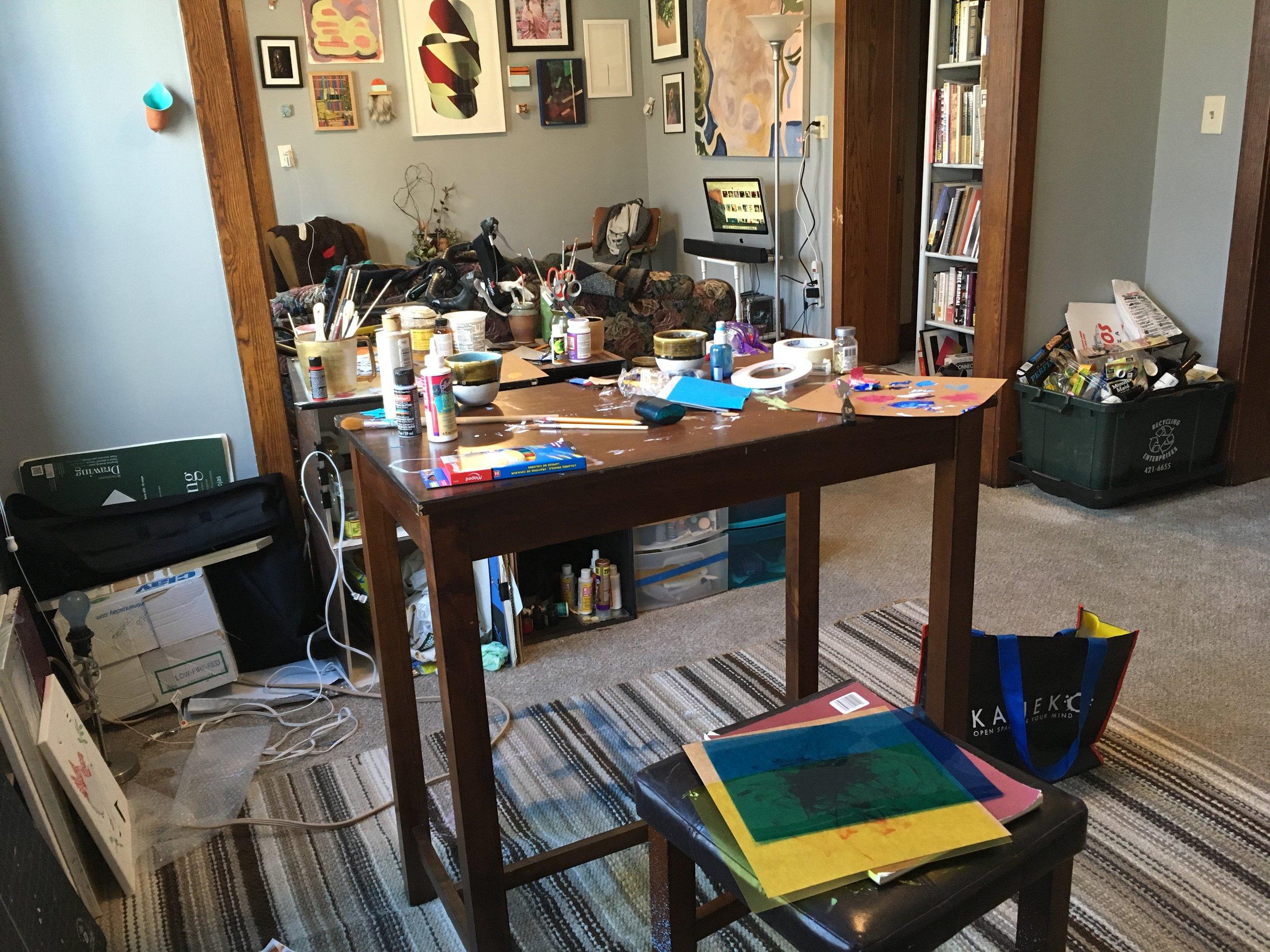 photo of Lisa Guevara's home studio.
