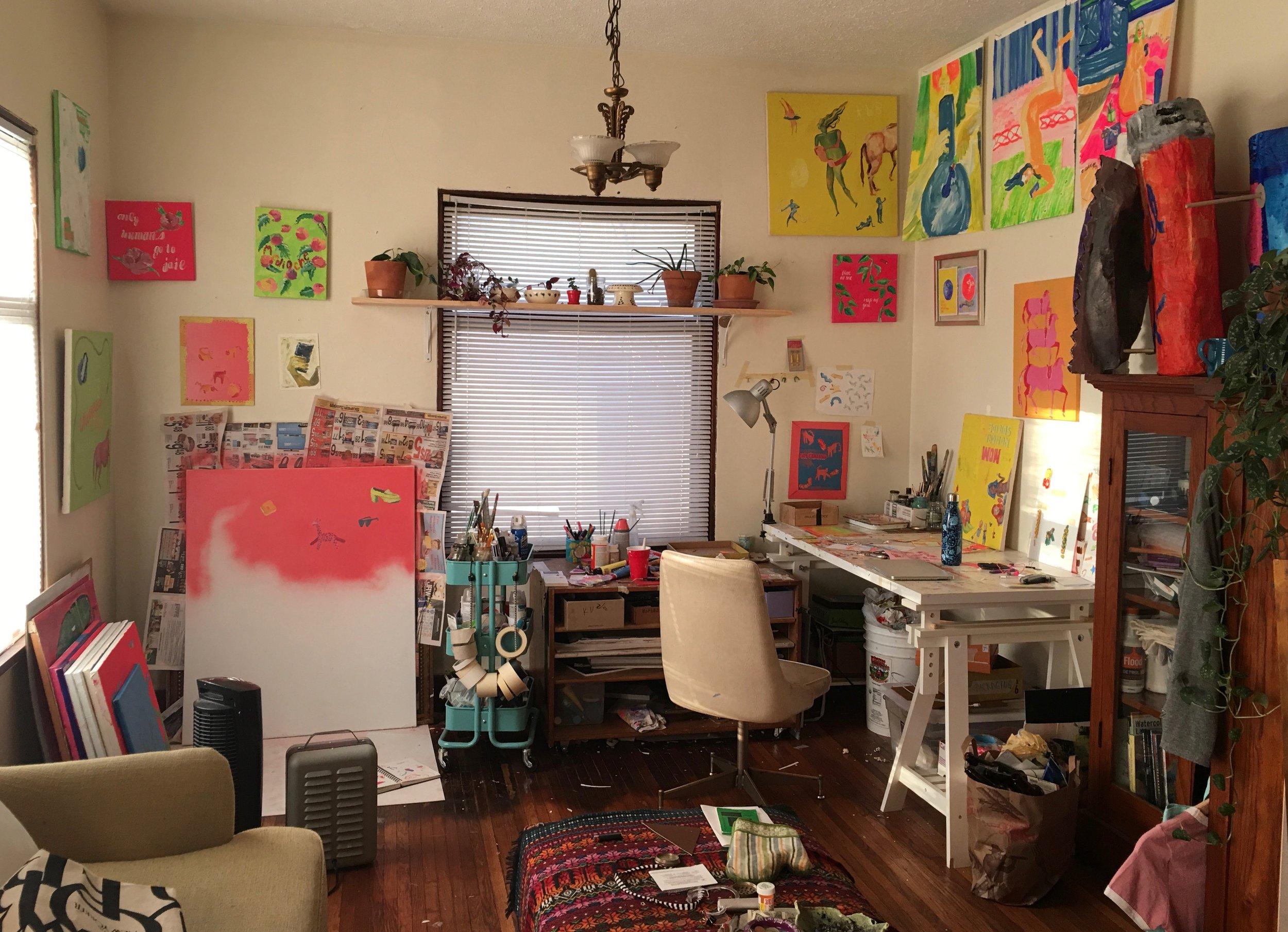 photo of Kelsea Brunner's studio.