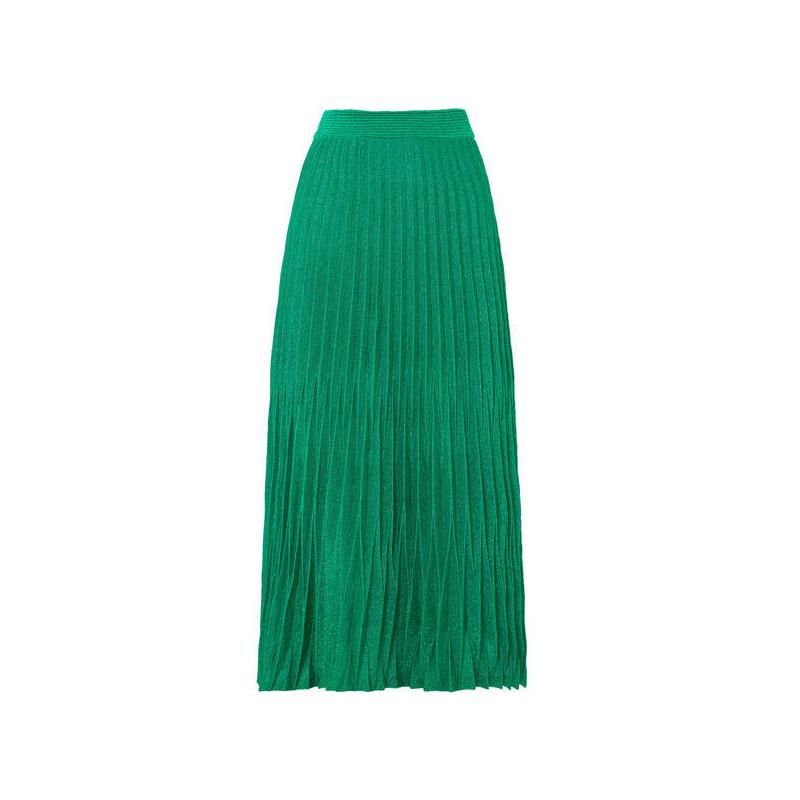 Maje Pleated Midi Skirt, $282