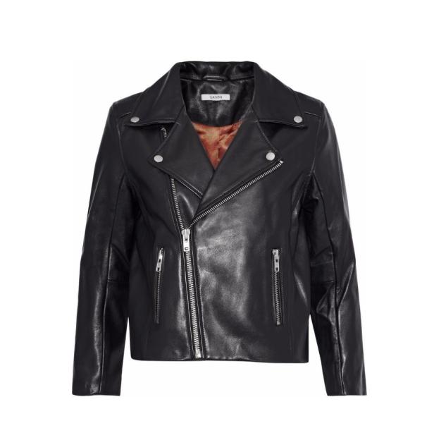 Ganni leather jacket, $405