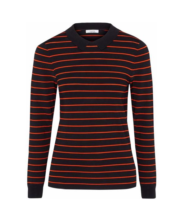 Ganni Striped-Knit Top, $98
