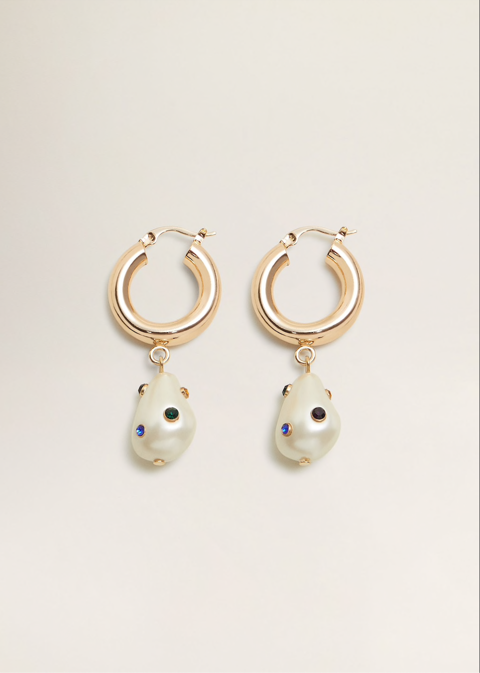 MANGO Pearl earrings, $36.23
