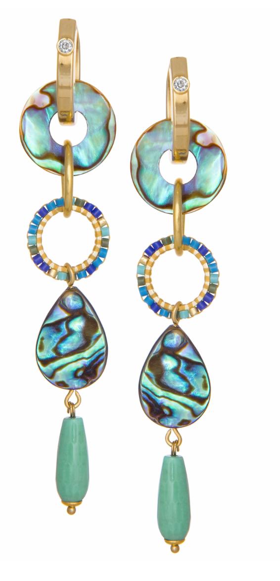 Jimena Alejandra earrings, $249