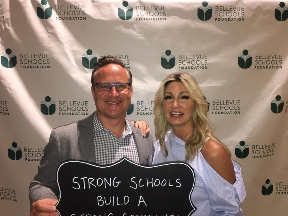 Dean & Stacy, Owners of RSIR, showed their support for the Bellevue Schools Foundation.