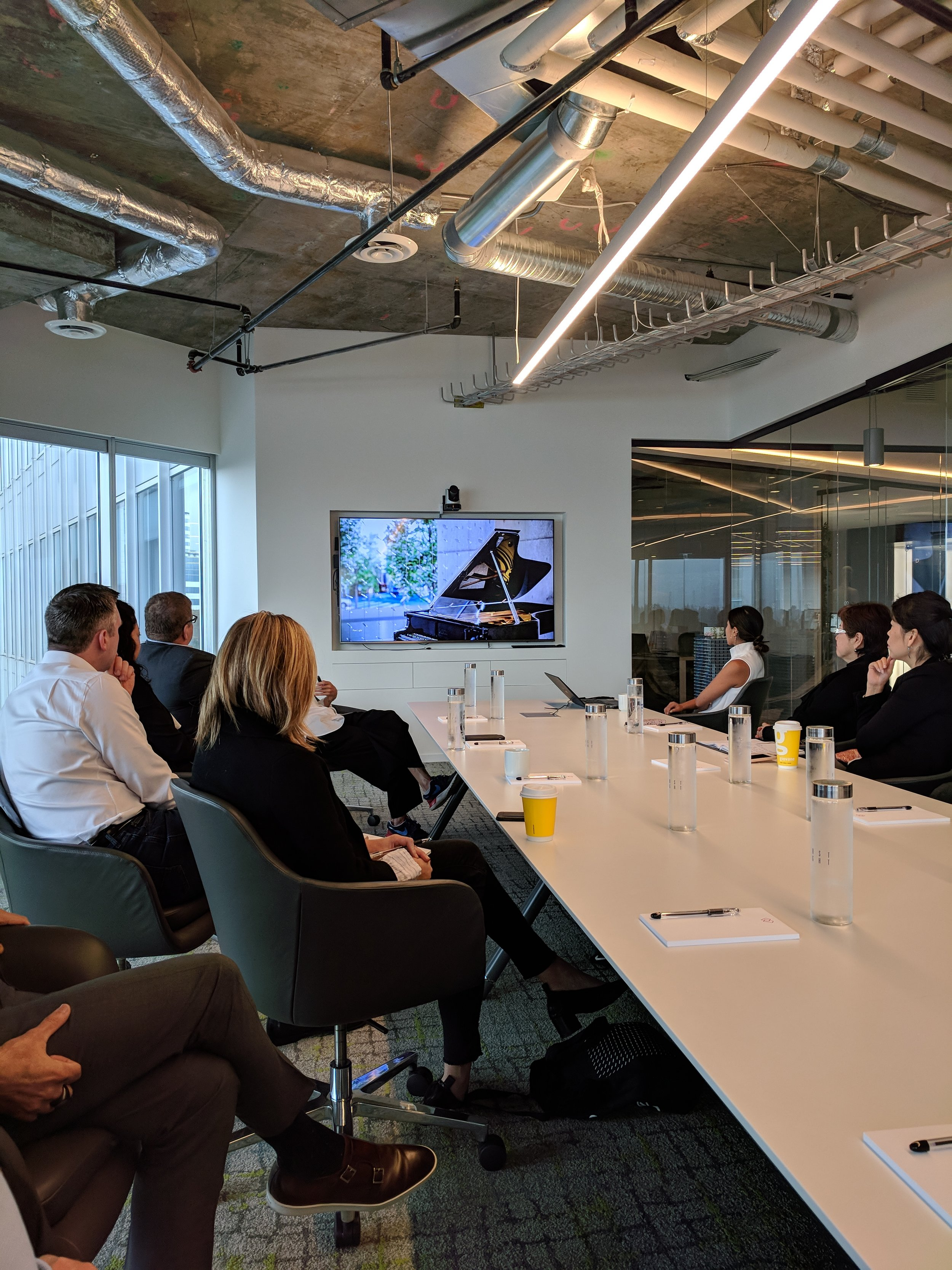 Attendees met at the Westbank offices to learn about their building philosophy.