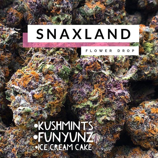 @snaxland #flowerparty #theexotics #TGIF #cannabisnews #weekendupdate #keepyourheadhigh #pickyourflavor #strainspecific #denverdispensary #wolfpaccannabis