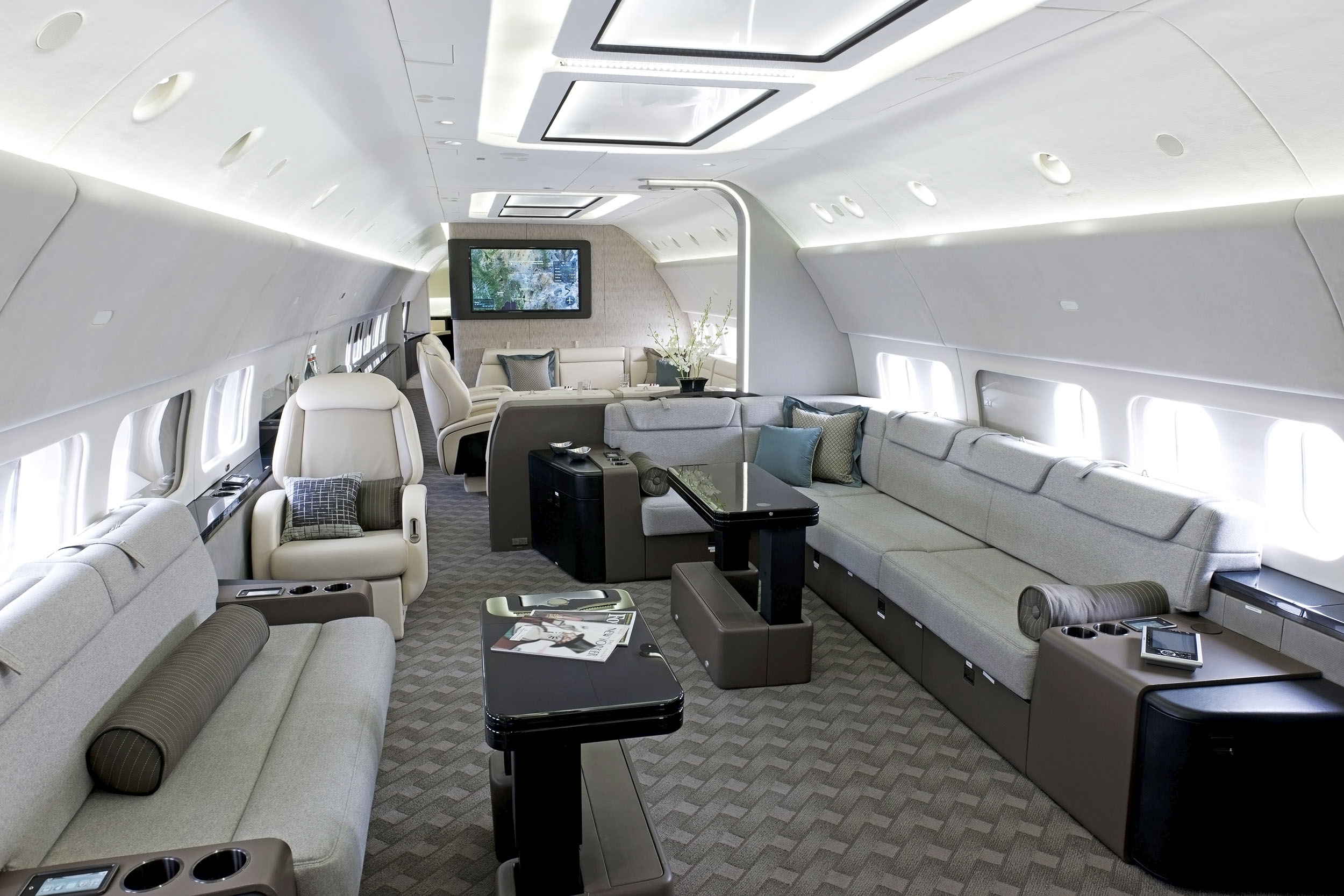 Boeing Business Jet Lounge