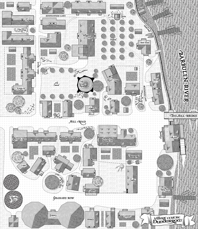 Dundarrow Village Map