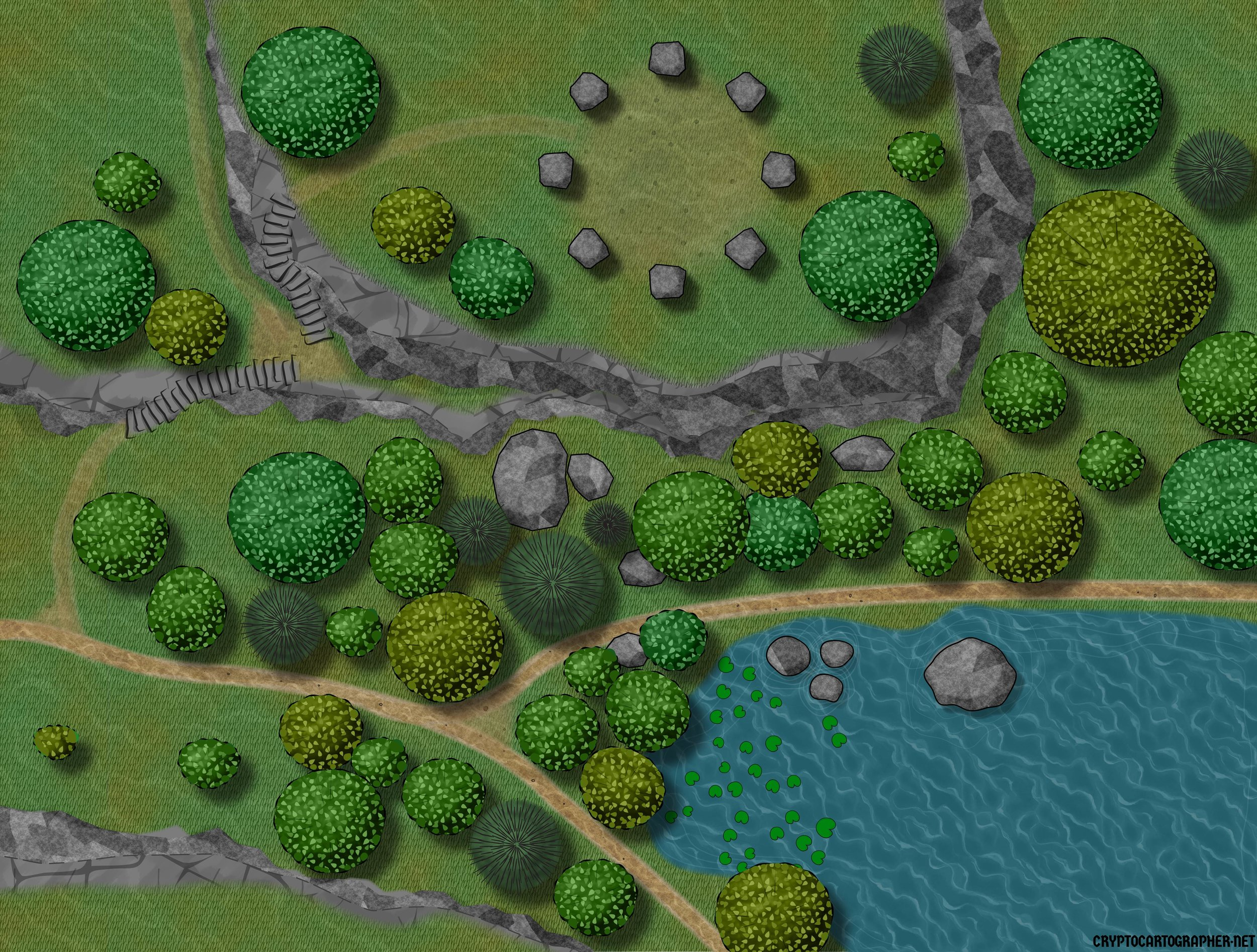 Standing stones map: day