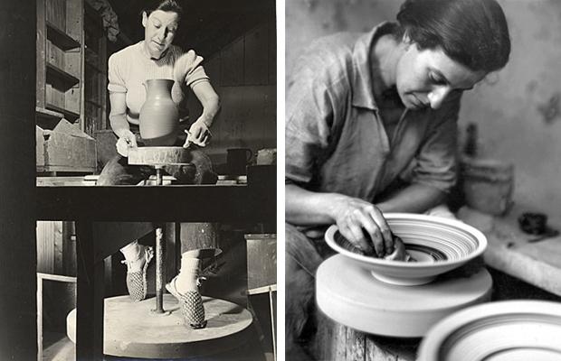 Marguetite Wildenhain working in her California studio