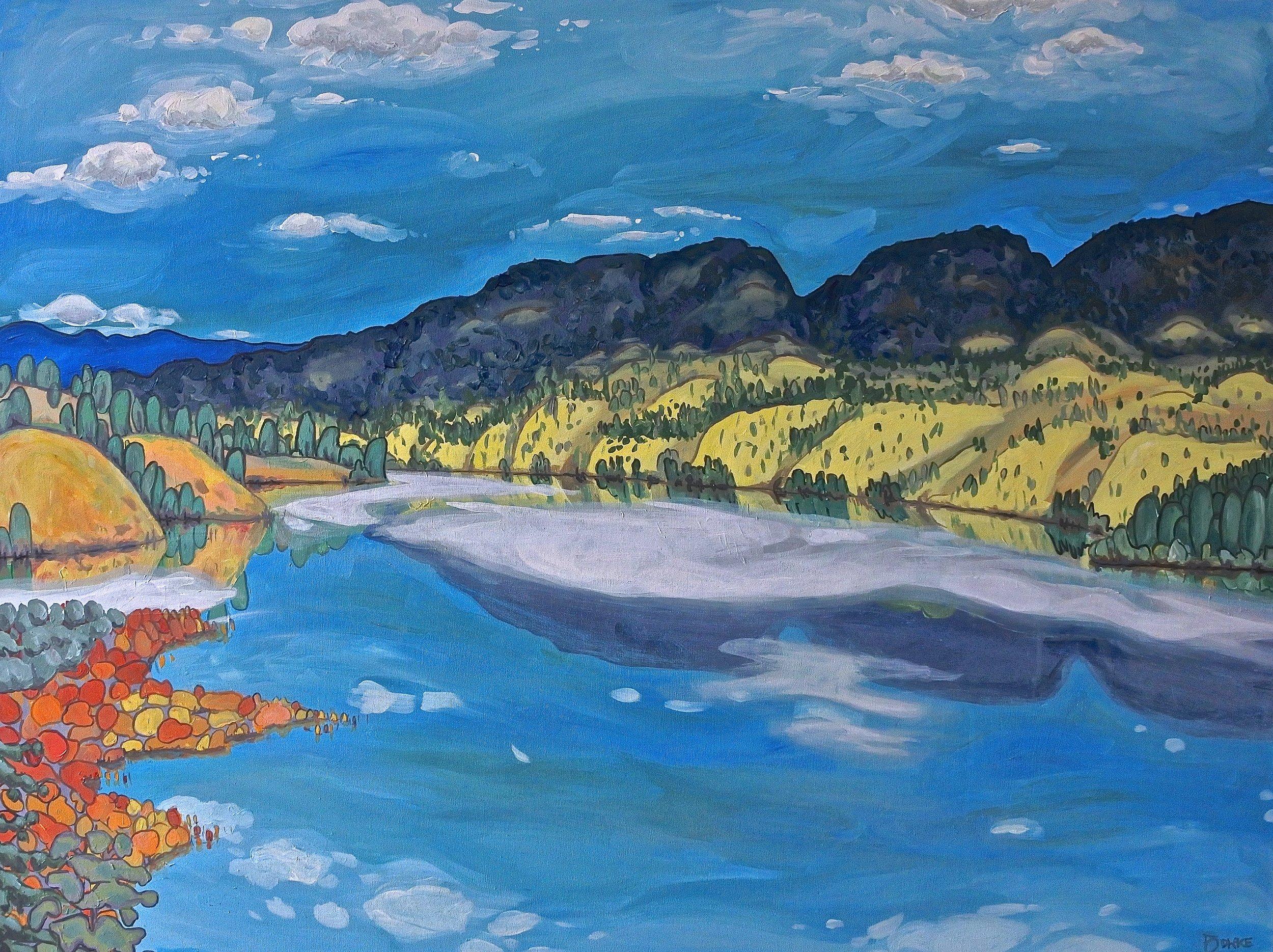 "'Ponderosa Colours' Sold 36x48"" acrylic on canvas"