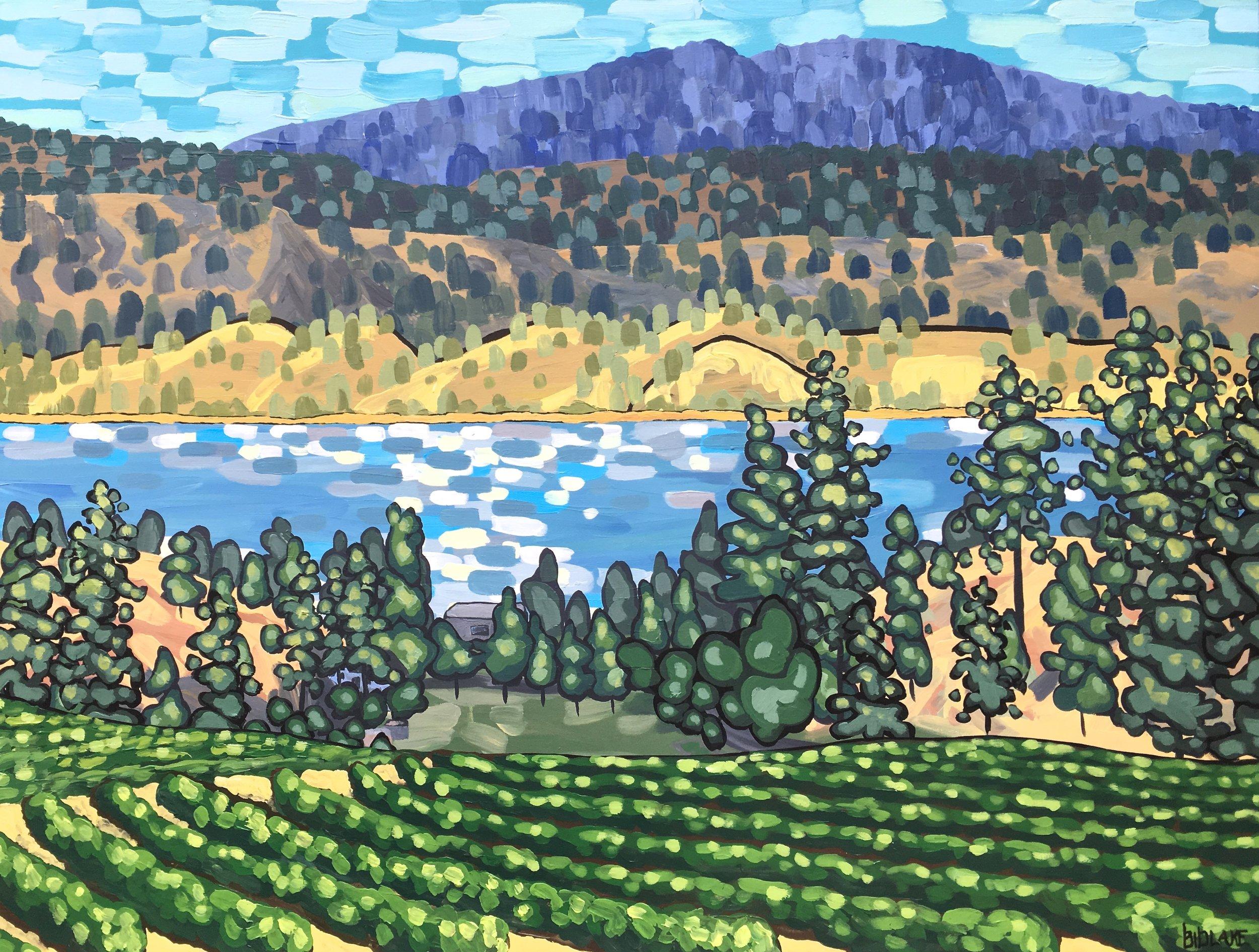 "'Echo Bay Vineyard' Sold 36x48"" acrylic on canvas"