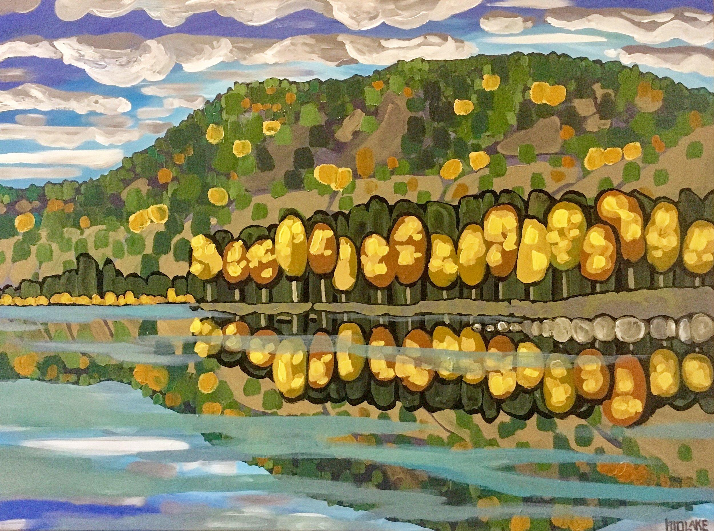 "'Skaha in Autumn' Sold 30x40"" acrylic on canvas"
