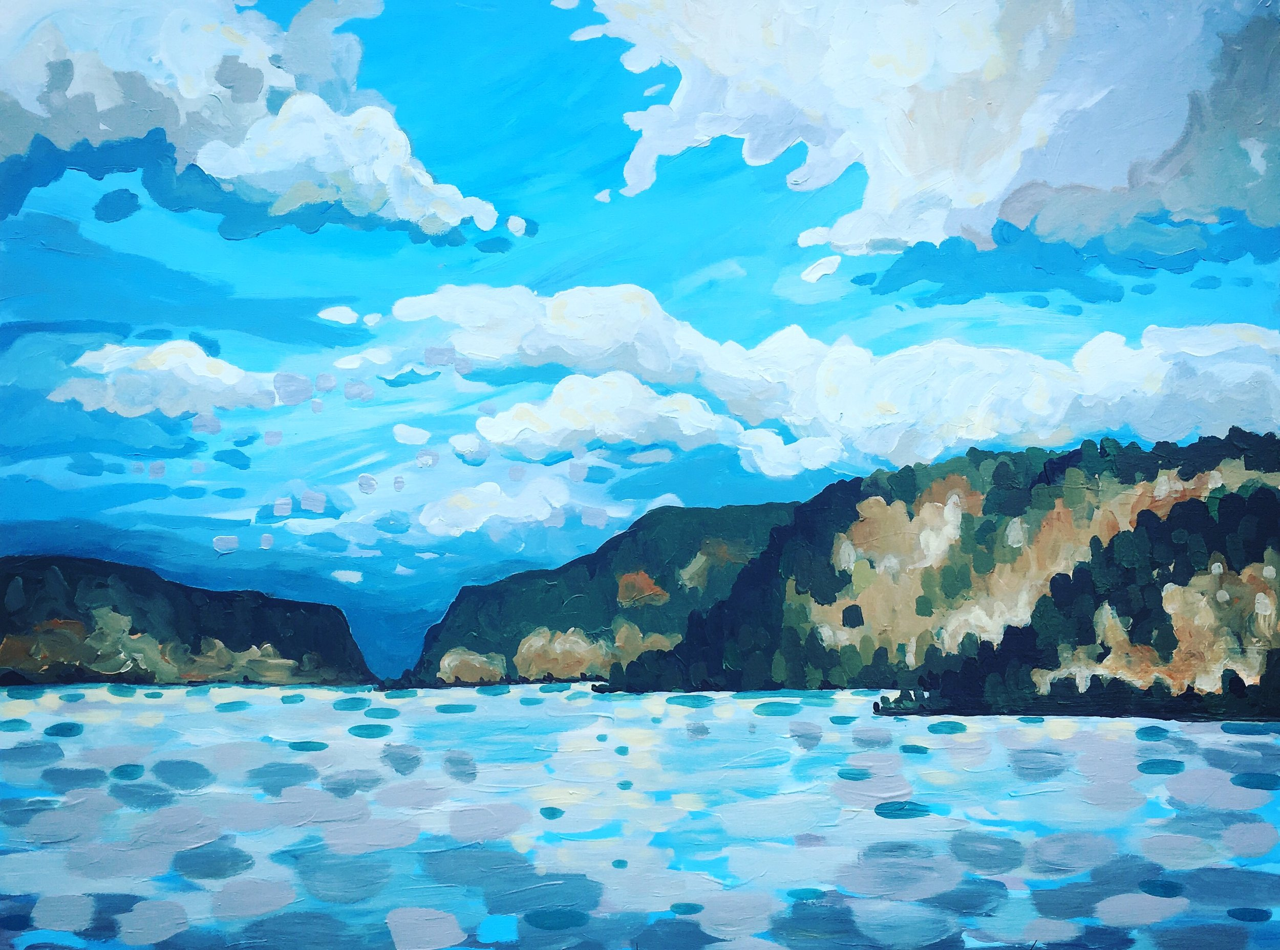 """'Hood River' Sold 24x30"""" acrylic on canvas"""