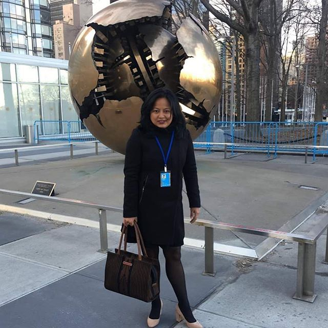 Our bag made it to UN Women commission on statues of women at United Nations Headquarter New York. Thank you @neelimabasnet . #csw63 #unwomen #handcraftedbags #weaving4empowerment #weavingforempowerment #craftedwithcare #empowerwomen