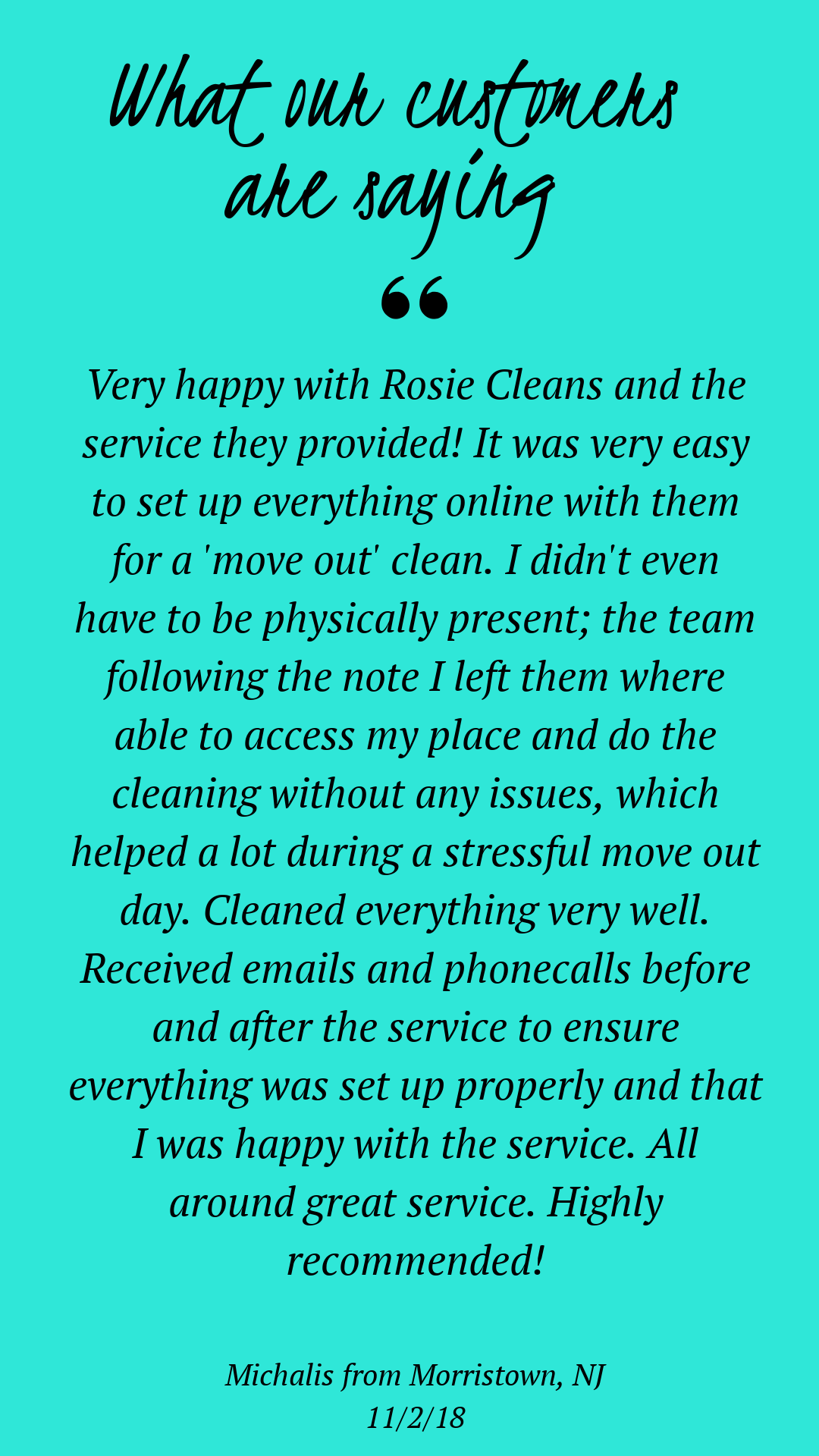 Rosie Cleans Morris County Cleaning