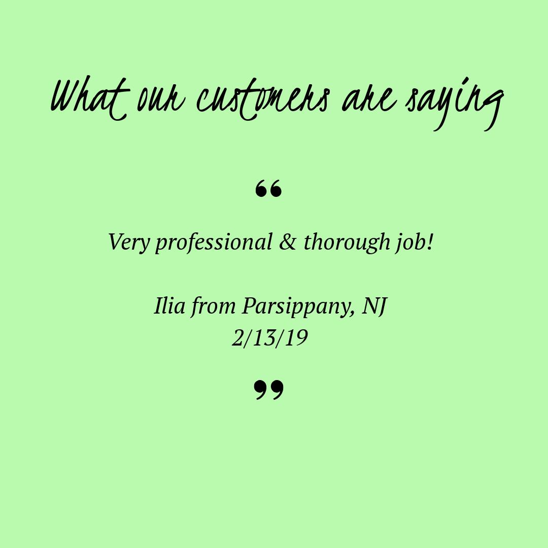 Rosie Cleans Client review Parsippany NJ