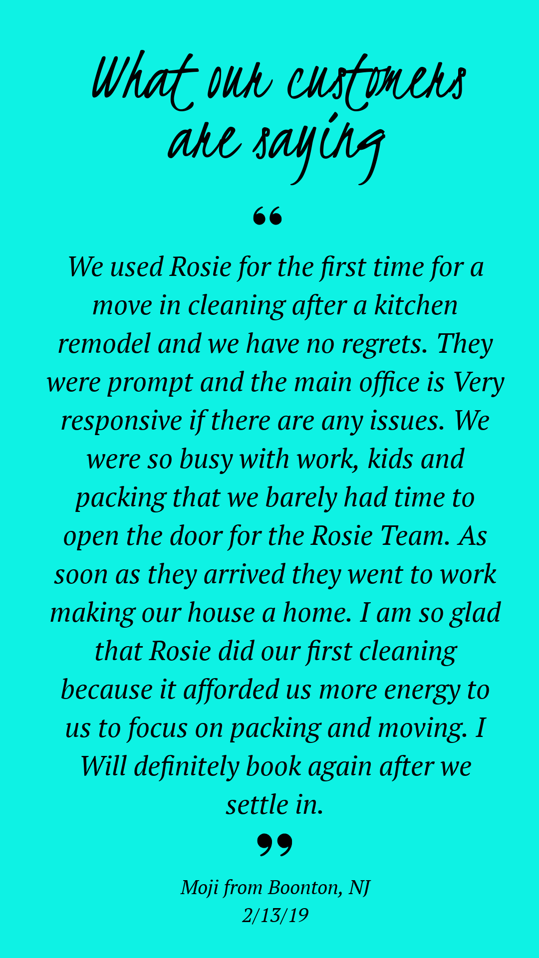 Rosie Cleans Professional Cleaning