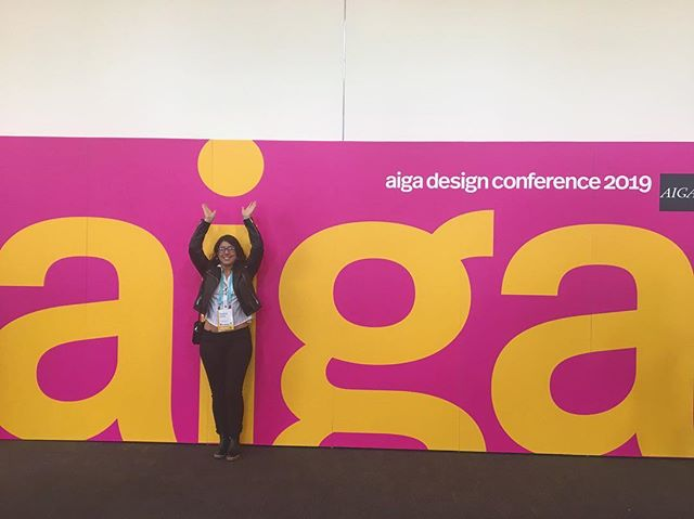 First time at AIGA design conference saw a lot of cool things and meet some cool people ready for day two now. #aigadesign