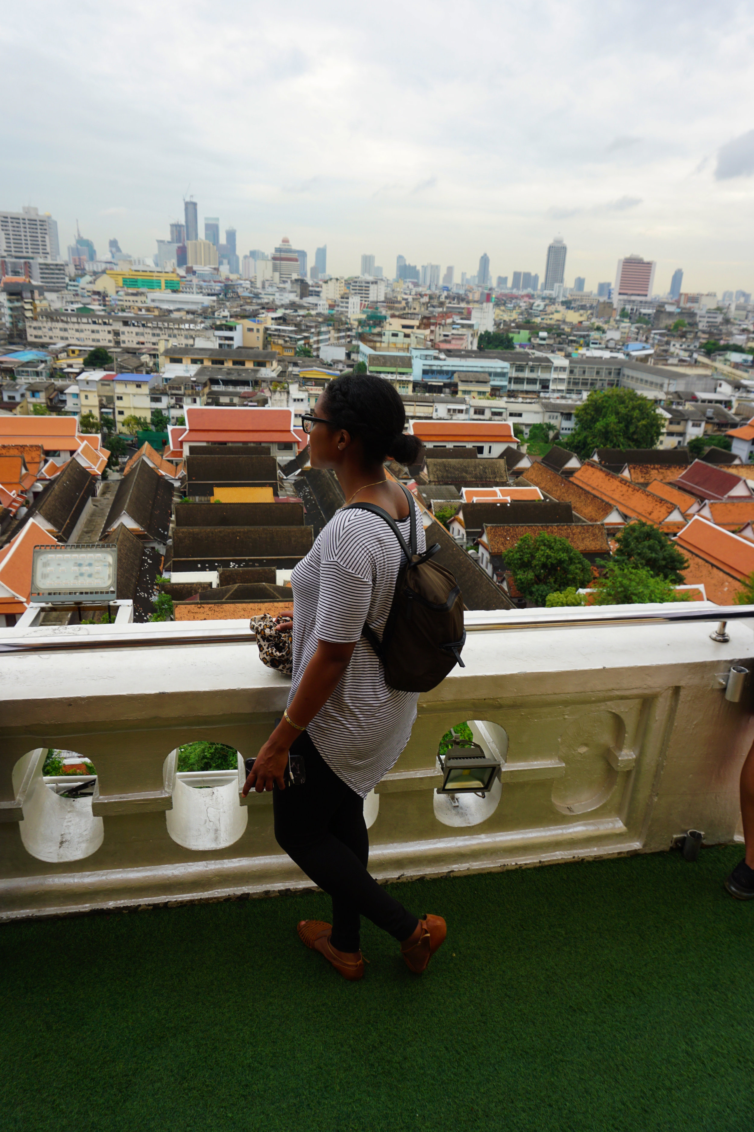 View of Bangkok from the top of the Golden Mount temple