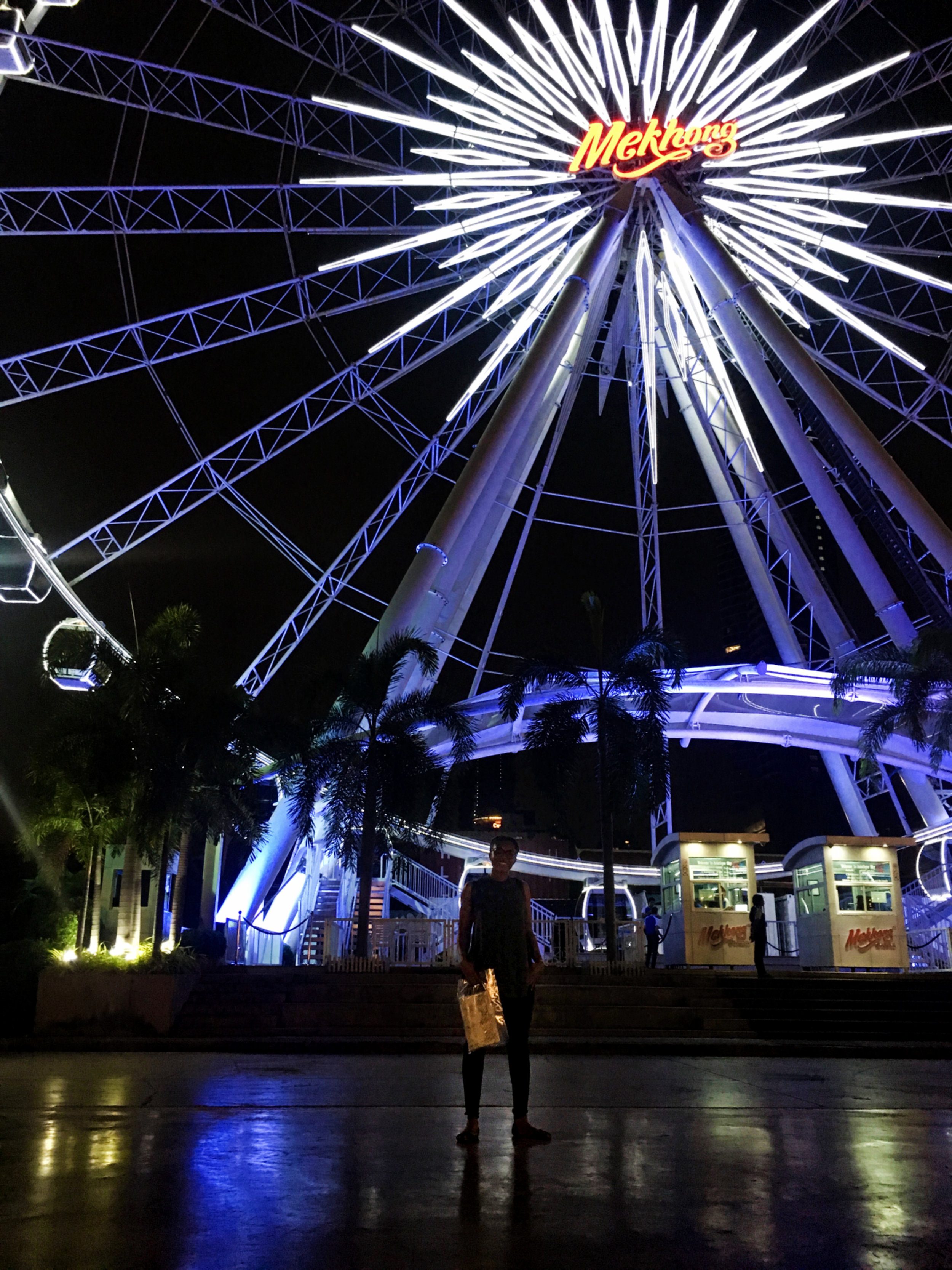 View of the ferris wheel at Asiatique