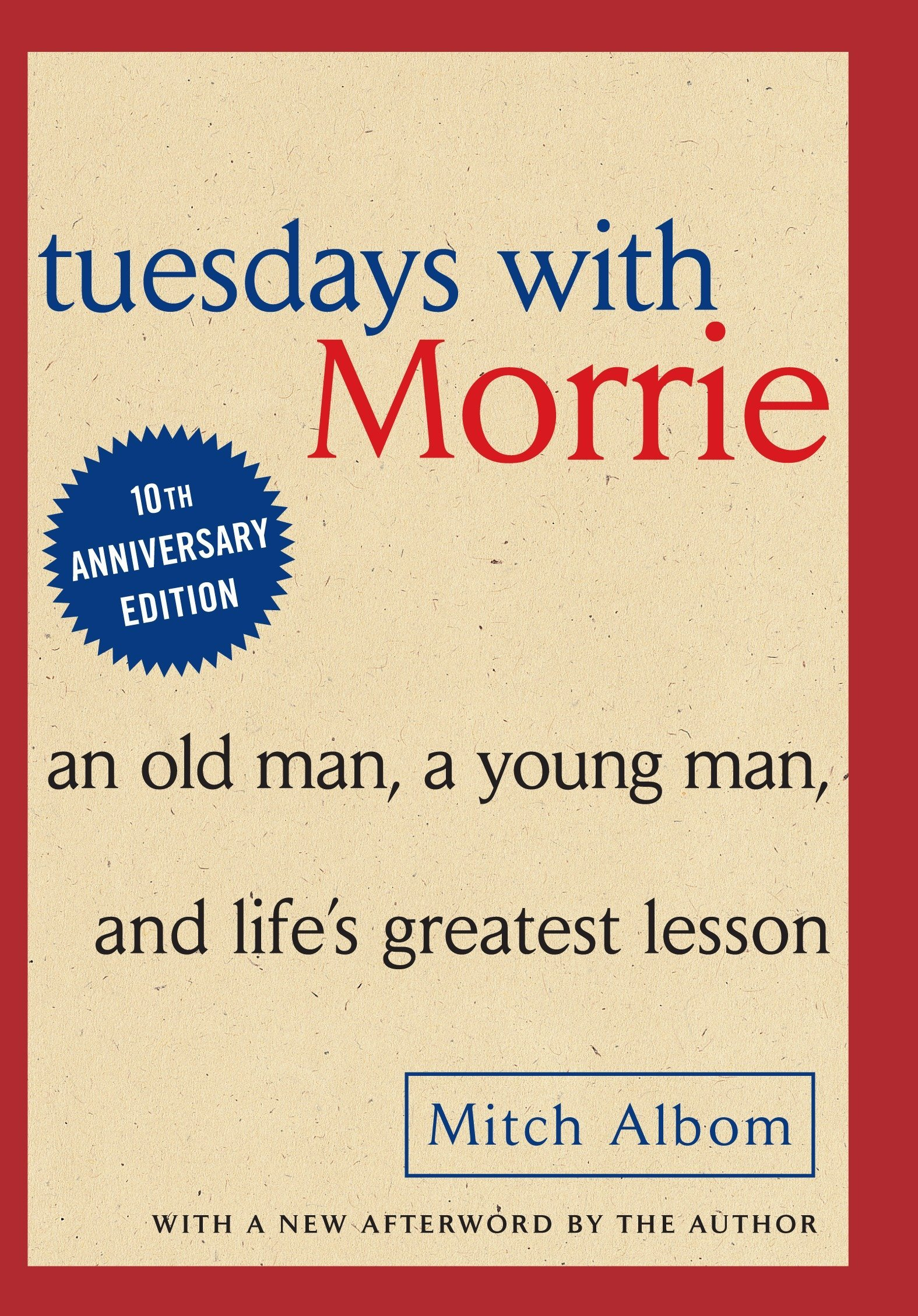 Tuesdays with Morrie book cover by Mitch Albom