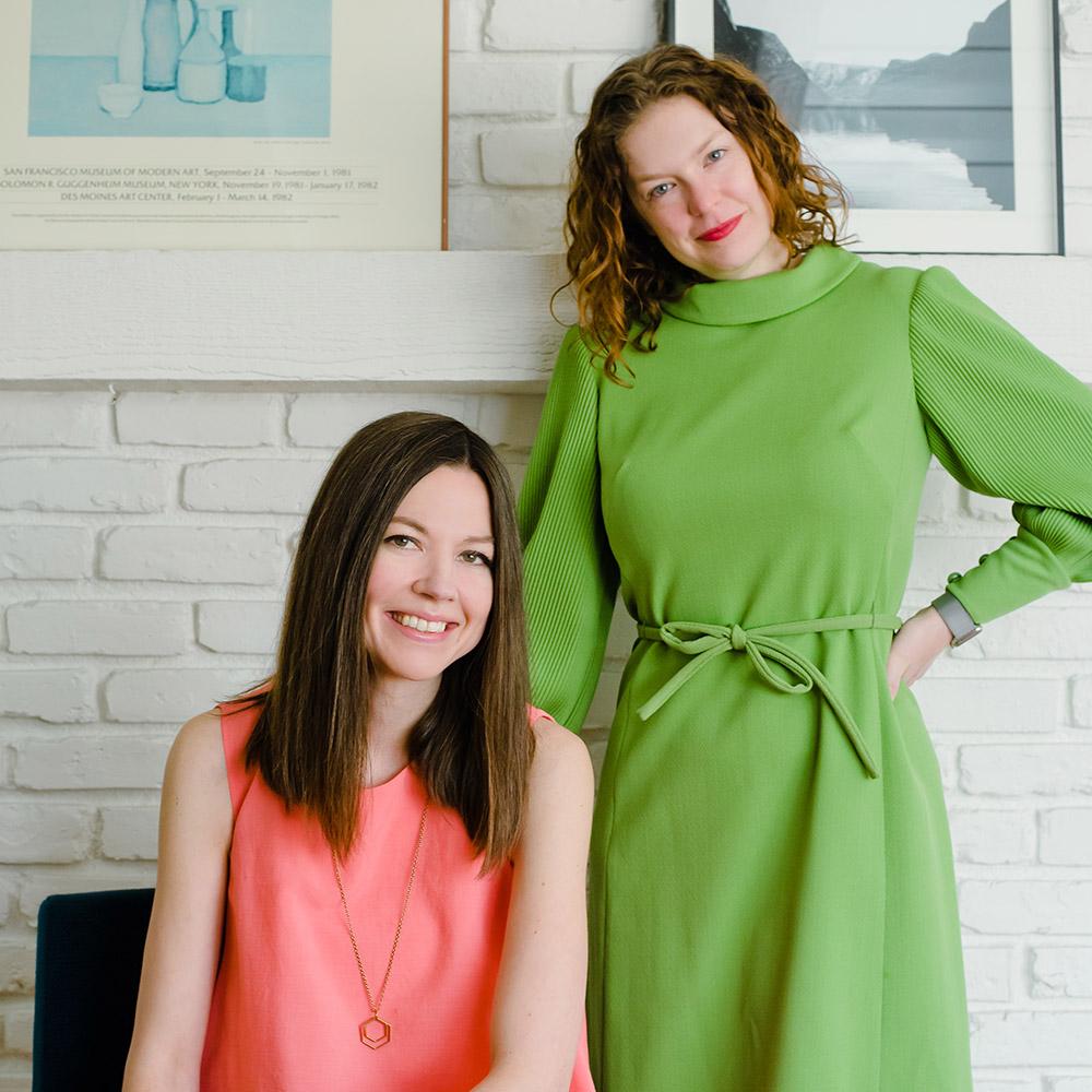 Co-Founders Katie Iwanin and Amanda Zweerink. Photos by  Rachel Hardacre