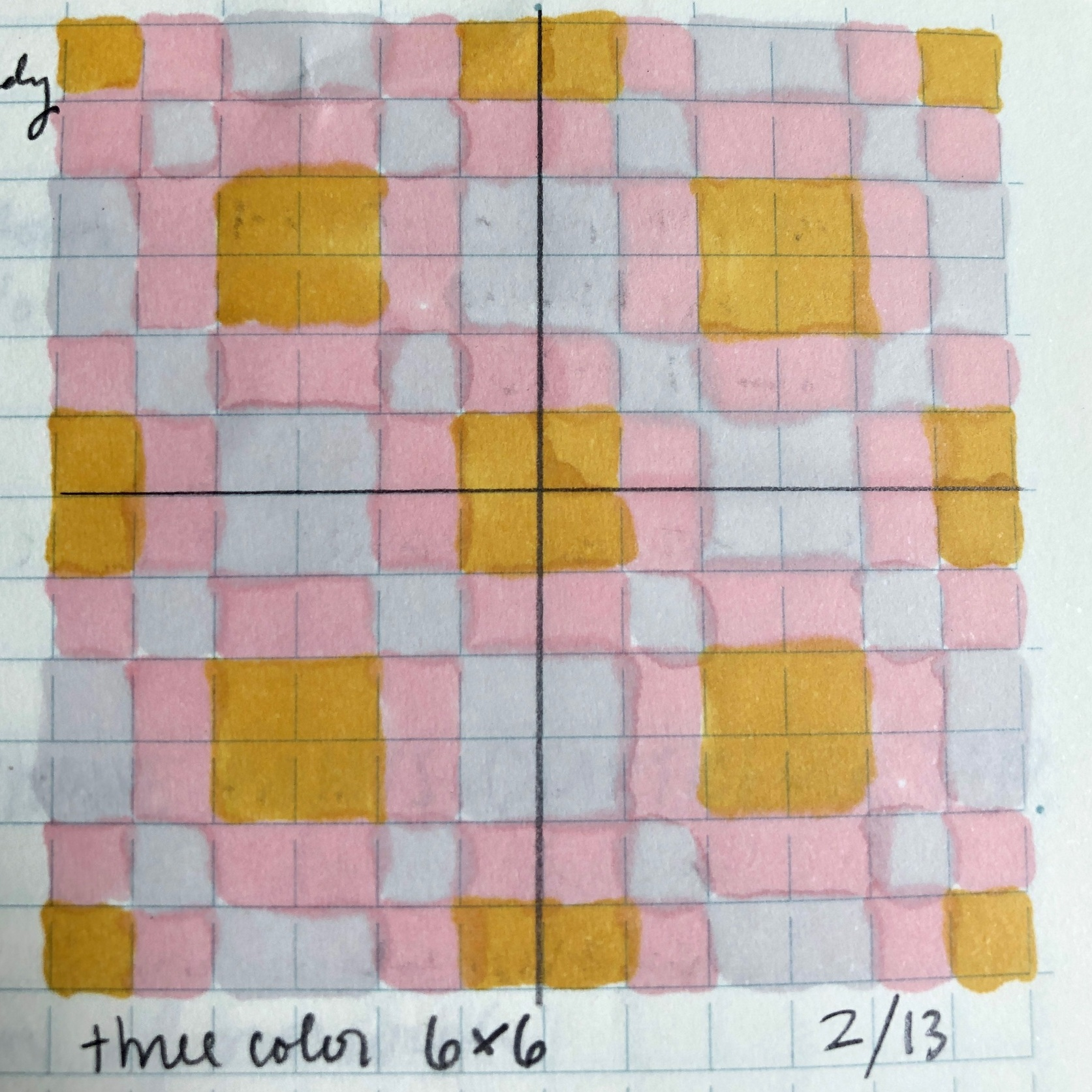 """three color 6x6"" 2/13/19"